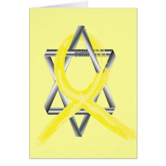 Bright Yellow Liver Cancer Survivor Ribbon Greeting Card