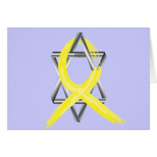 Bright Yellow Liver Cancer Survivor Ribbon Greeting Card