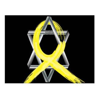 Bright Yellow Liver Cancer Survivor Ribbon Postcard