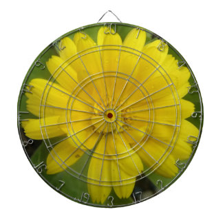 Bright Yellow Marigold Dart Board