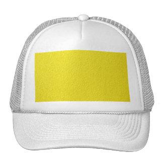 Bright Yellow Neon Trendy Colors Mesh Hats