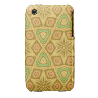 Bright yellow pattern iPhone 3 case