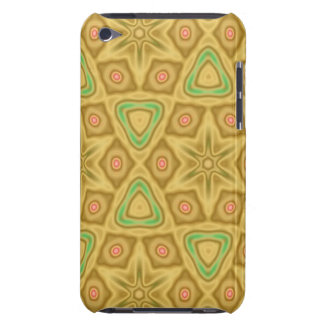 Bright yellow pattern iPod touch case