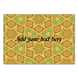Bright Yellow pattern Table Card