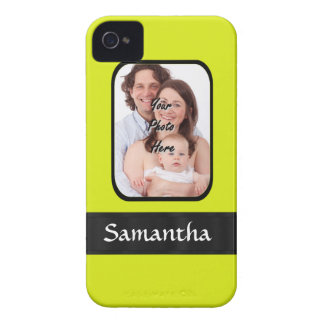 Bright yellow personalized photo Case-Mate iPhone 4 cases