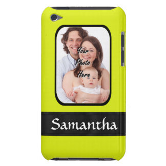 Bright yellow personalized photo iPod touch case