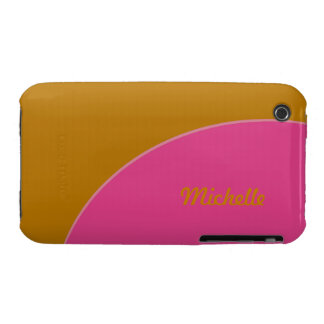Bright Yellow Pink Mode Retro iPhone 3 Covers