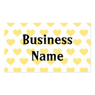 Bright Yellow Polka Dot Hearts Pack Of Standard Business Cards