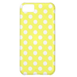 Bright Yellow Polka Dot iPhone 5C Case