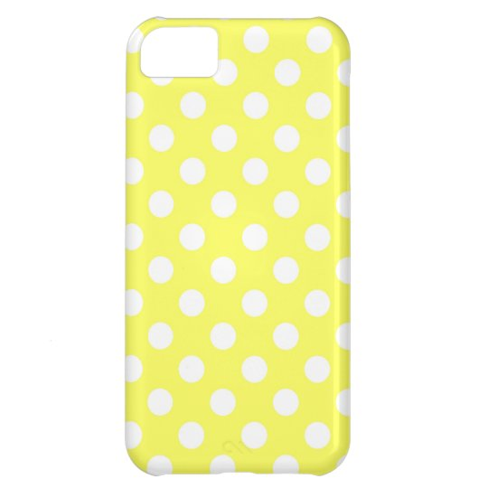 Bright Yellow Polka Dot iPhone 5C Case