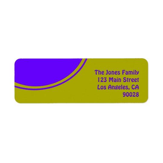 Bright yellow purple mod circle