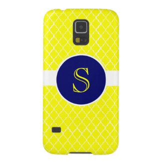 Bright Yellow Quatrefoil Monogrammed Phone Case
