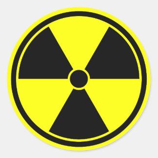 Bright Yellow Radiation Symbol Sticker