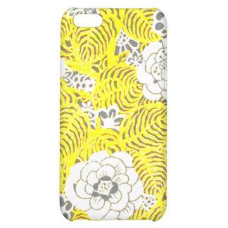 Bright Yellow Retro Flower Pattern iPhone 5C Covers