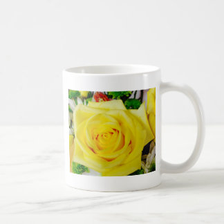 Bright Yellow Rose Basic White Mug