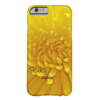 Bright Yellow Spiky Dahlia Close Up Photograph Barely There iPhone 6 Case