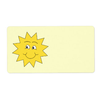 Bright Yellow Summer Sun. Smiling Face.