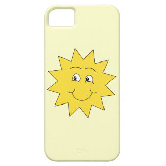 Bright Yellow Summer Sun. Smiling Face. iPhone 5 Case