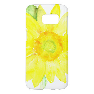 Bright Yellow Summer Sunflower Watercolor