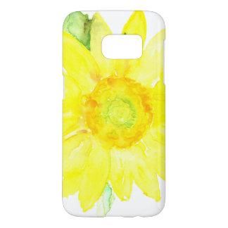 Bright Yellow Summer Sunflower Watercolor