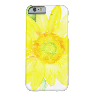 Bright Yellow Summer Sunflower Watercolor Barely There iPhone 6 Case
