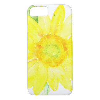 Bright Yellow Summer Sunflower Watercolor iPhone 7 Case
