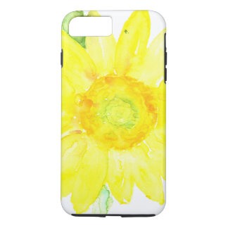 Bright Yellow Summer Sunflower Watercolor iPhone 7 Plus Case