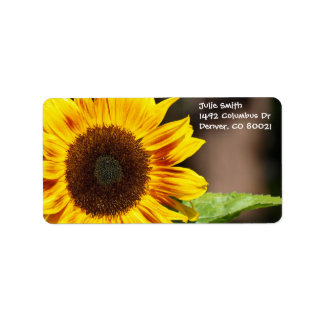 Bright Yellow Sunflower Address Label
