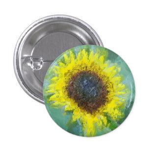 Bright Yellow Sunflower 3 Cm Round Badge