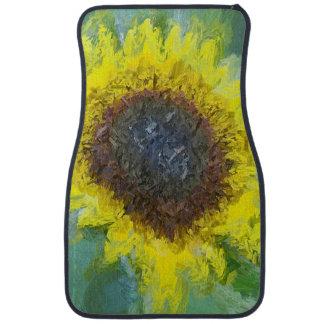 Bright Yellow Sunflower Car Mat