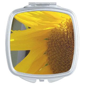 Bright Yellow Sunflower Compact Mirrors