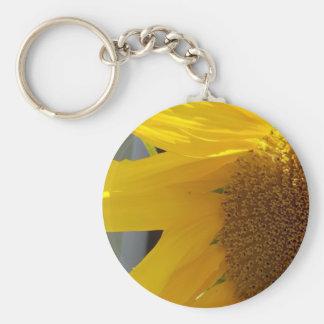 Bright Yellow Sunflower Key Ring