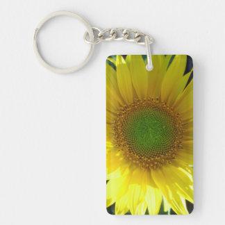 Bright Yellow Sunflower Keychain