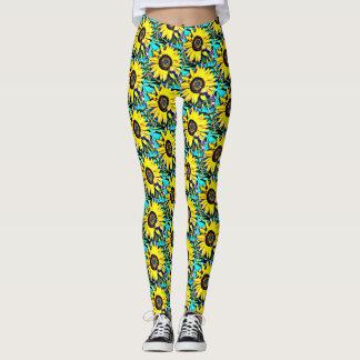 Bright Yellow Sunflower Leggings | Country Western