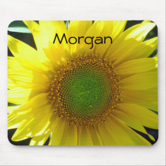 Bright Yellow Sunflower Mouse Mat