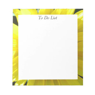Bright Yellow Sunflower Notepad