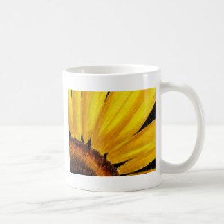 Bright Yellow Sunflower - Oil pastel print Basic White Mug