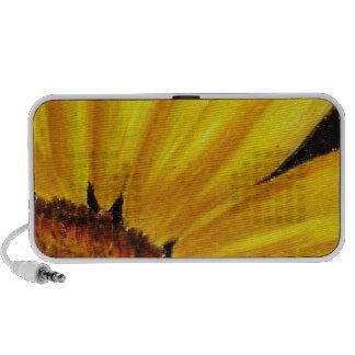 Bright Yellow Sunflower - Oil pastel print Speaker System