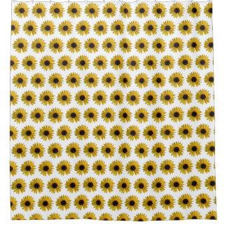Bright Yellow Sunflower Pattern Shower Curtain