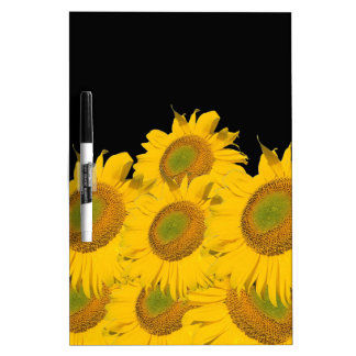 Bright Yellow Sunflowers Dry Erase Boards