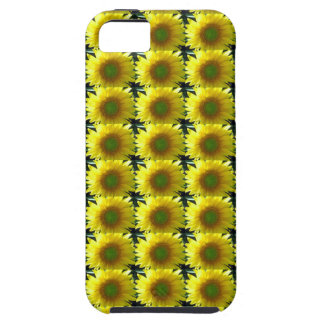 bright yellow sunflowers repeat cheerful happy sun iPhone 5 case