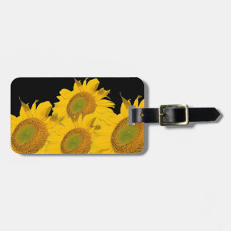 Bright Yellow Sunflowers Travel Bag Tag