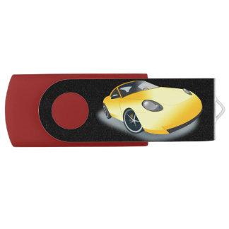 Bright Yellow Superfast Toon Sports Car Drive