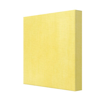 Bright Yellow Textured Look Gallery Wrap Canvas