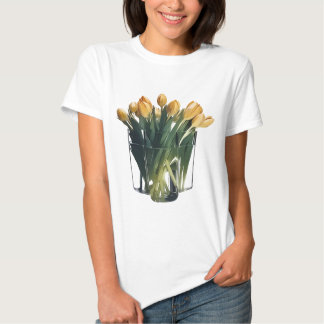 Bright Yellow Tulips in a Glass Vase Tees