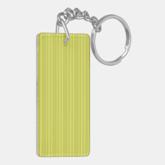 Bright Yellow Vertical Stripes Rectangle Acrylic Key Chain