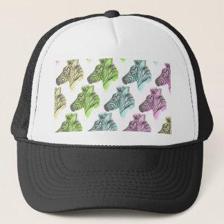 Bright Zebra Pattern Cap