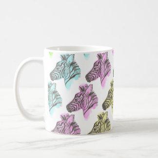 Bright Zebra Pattern Cup Basic White Mug