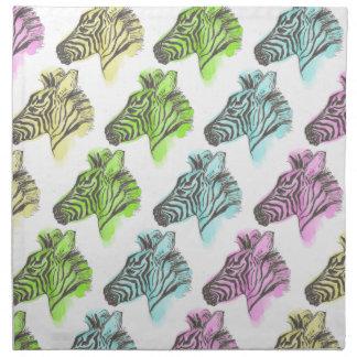Bright Zebra Pattern Napkins