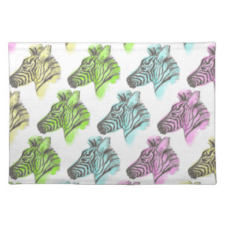Bright Zebra Pattern Placemat